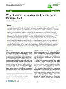 Weight Science: Evaluating the Evidence for a Paradigm Shift