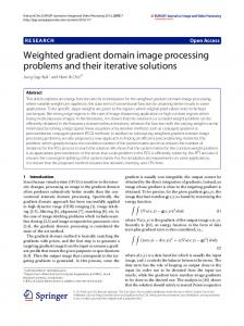 Weighted gradient domain image processing problems and their iterative solutions