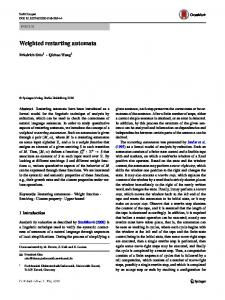 Weighted restarting automata