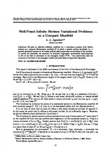 Well-posed infinite horizon variational problems on a compact manifold