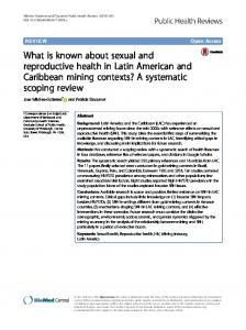 What is known about sexual and reproductive health in Latin American and Caribbean mining contexts? A systematic scoping review