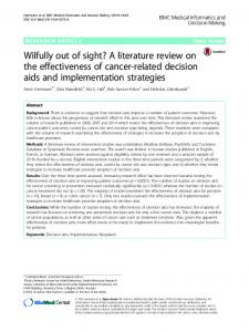 Wilfully out of sight? A literature review on the effectiveness of cancer-related decision aids and implementation strategies