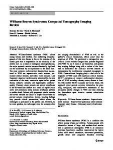 Williams-Beuren Syndrome: Computed Tomography Imaging Review