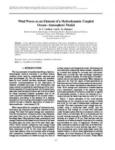 Wind waves as an element of a hydrodynamic coupled ocean-atmosphere model