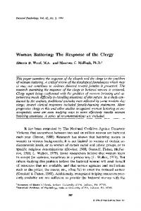 Woman battering: The response of the clergy