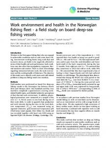Work environment and health in the Norwegian fishing fleet - a field study on board deep-sea fishing vessels