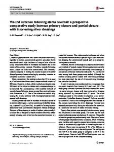 Wound infection following stoma reversal: a prospective comparative study between primary closure and partial closure with intervening silver dressings