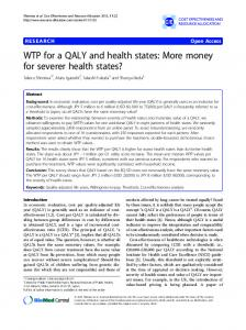 WTP for a QALY and health states: More money for severer health states?
